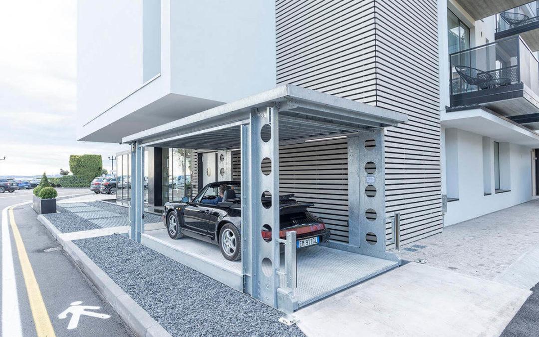 Onbemande hydraulische Autolift voor Luxe Hotel in Italië